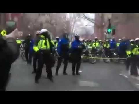 Washington DC Inauguration Riots Police Attacked