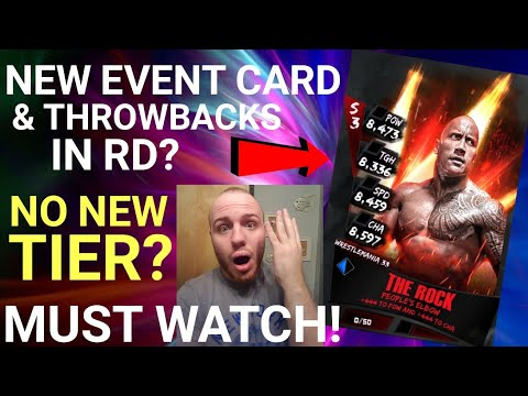NEW ROCK EVENT CARD! THROWBACKS IN RING DOMINATION! NO NEW TIER? WWE SUPERCARD SEASON 3!