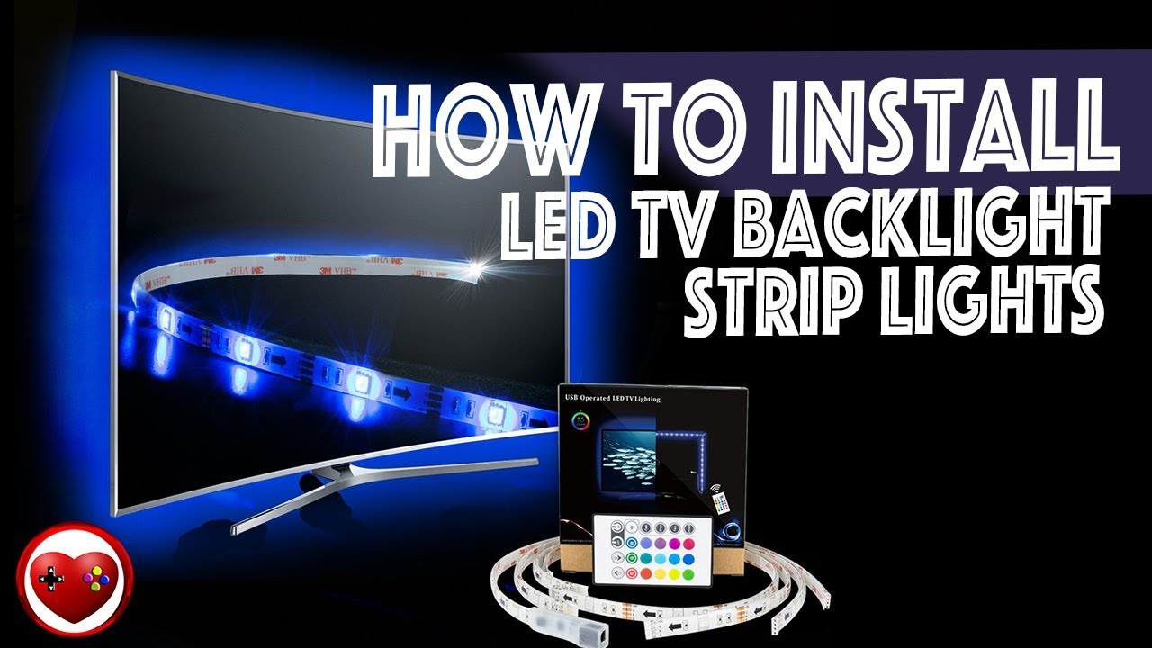 How to install led tv backlight strip lights review unboxing how to install led tv backlight strip lights review unboxing my video games world aloadofball Images