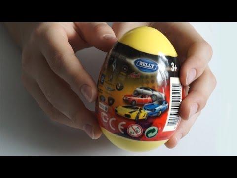 Видео: Машинки сюрпризы для детей  Surprise Eggs Welly Cars Welly Kinder Toys Unboxing