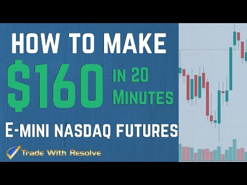 Live Day Trading Futures for Beginners: How To Make $160 in 20 Minutes-/NQ E-mini Nasdaq Futures
