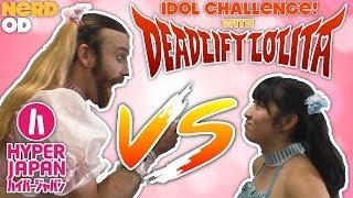 DEADLIFT LOLITA CHALLENGE at HYPER JAPAN! Ladybeard vs Saiki Reika!...