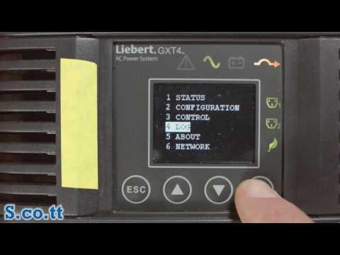 Liebert GXT4 UPS Menu System Walk-Through (on A GXT4-3000RT120)