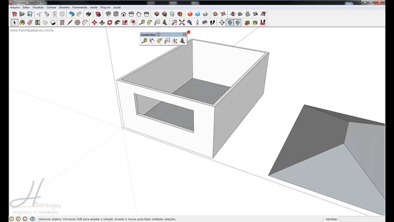 Curso sketchup 2013 aula 08 youtube for Sketchup 2013