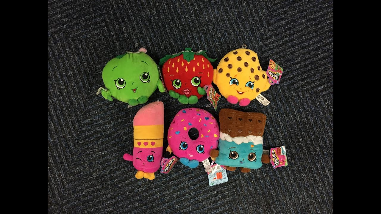 Shopkins Plush Toy Hunting Kooky Cookie Apple Blossom Strawberry Kiss And MORE