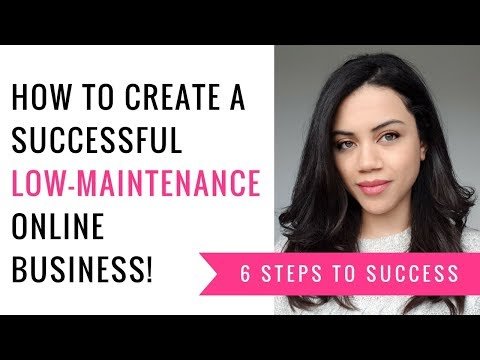 How to start a successful low-maintenance online business!