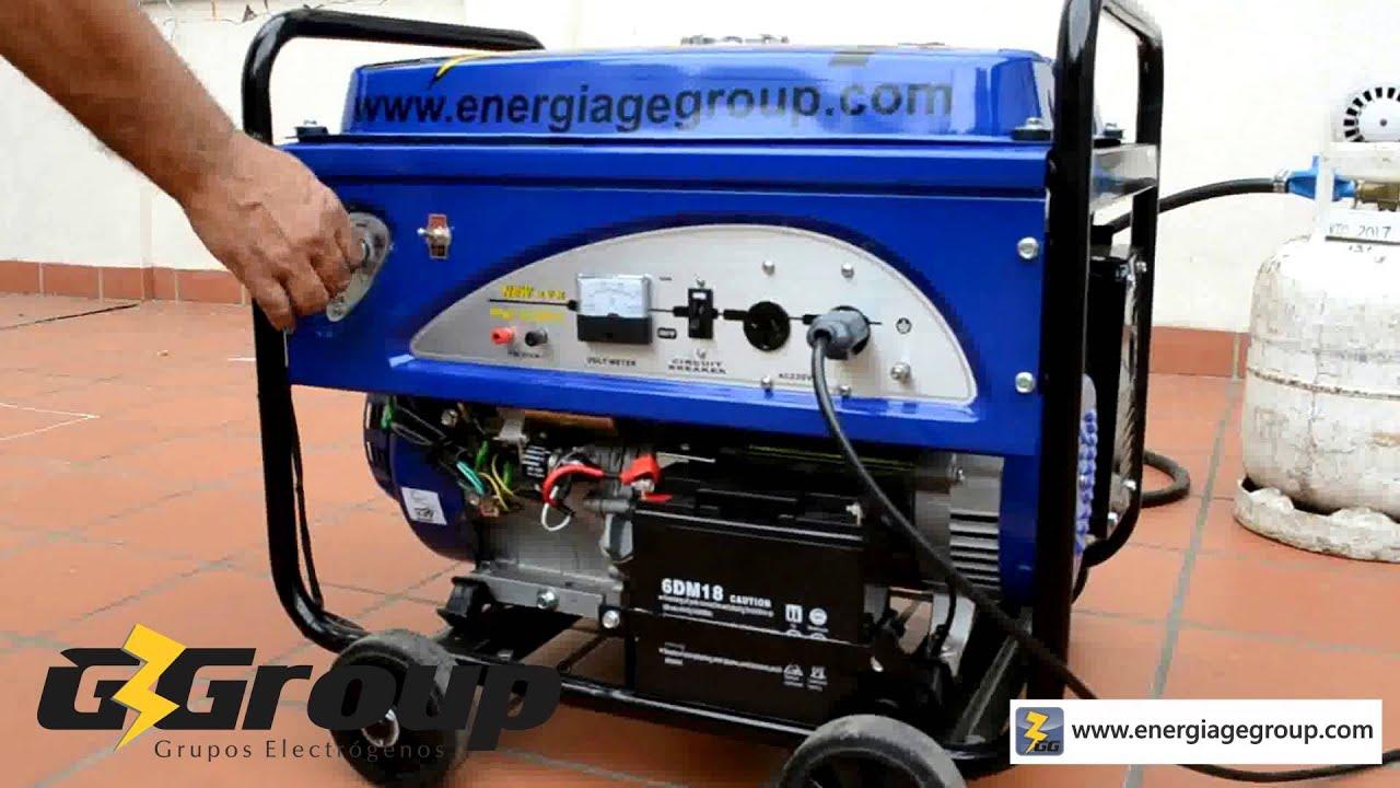 Nuevo generador dual gas natural garrafa y nafta youtube - Generador electrico a gas butano ...
