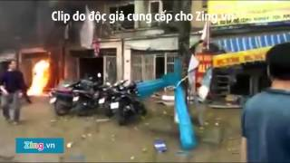 Vụ nổ lớn tại Hà Đông qua camera an ninh