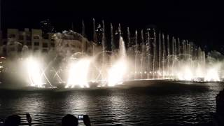 Dubai fountain great show with thriller 2014