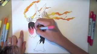 Speed Drawing Pokémon - MEGA Blaziken