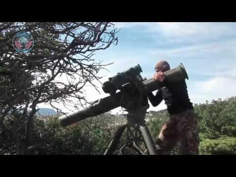 Сирия Боевики ИГИЛ стреляют из ПТУР BGM 71 TOW