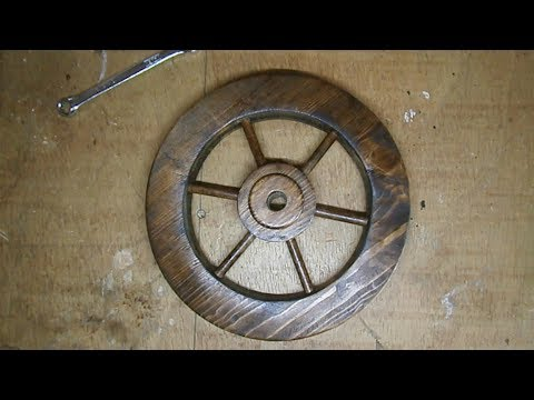 How to make a  wooden wheel handmade