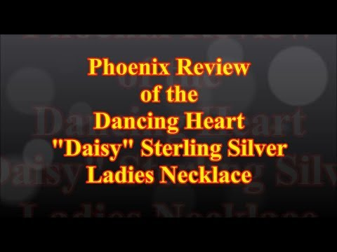 """Dancing Heart """"Daisy"""" Sterling Silver Ladies Necklace"""