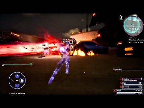 FINAL FANTASY XV - Omega Weapon Level 120 Hardest Boss Fight & 99,999 Magic Damage l PS4 Pro