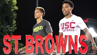 Top WR Duo in the Nation  The St Brown Brothers - Osiris  Amon-Ra  Mater Dei CA