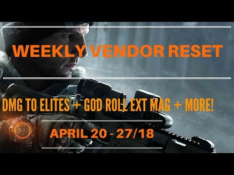 The Division - Weekly Vendor Reset April 20 - 27/18