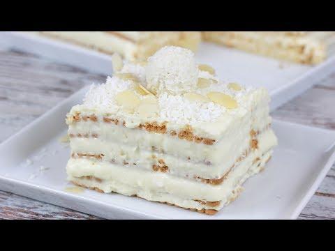 Raffaello Kuchen ohne Backen I Blitzrezept I No Bake Torte