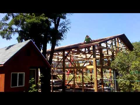 Getting ready to lay roof deck