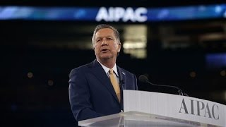 kasich to aipac u s should pull out of iran nuclear deal