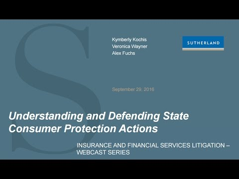 Webcast: Understanding and Defending State Consumer Protection Actions