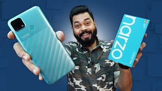 realme Narzo 30A Unboxing And First Impressions ⚡Helio G85, 6000mAh,18W Charging @8,999