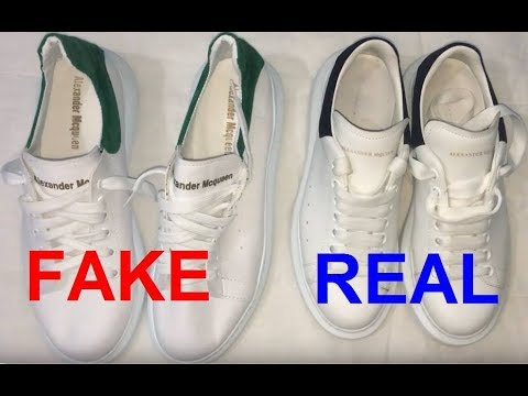 Real vs. Fake Alexander McQueen oversized sneaker. How to spot fake Alexander McQueen
