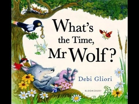 WHAT'S THE TIME, MR. WOLF?| BOOK | KIDS READING WITH ENGLISH SUBTITLES