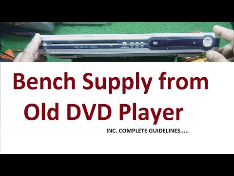Recycle DVD player for power supply 12V and 5V