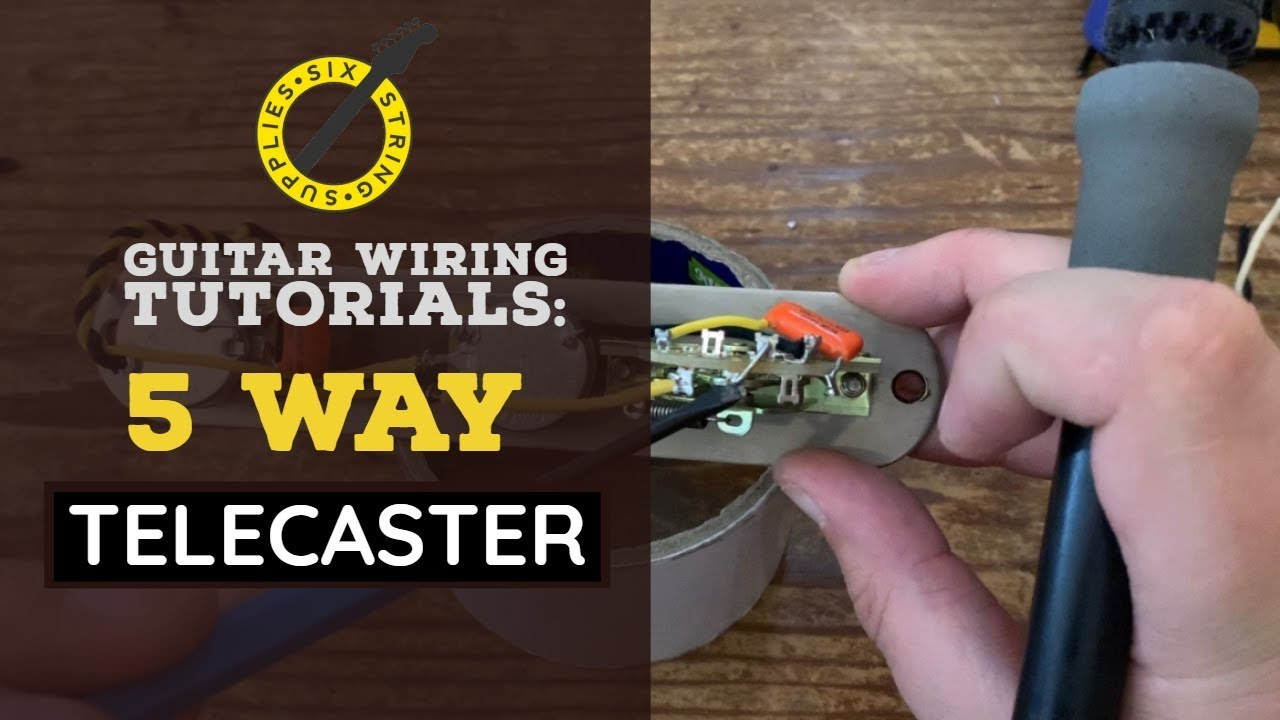 5-Way Bill Lawrence Mod. Fender Telecaster Wiring Harness NO SOLDER