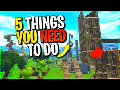 5 Things YOU *NEED* to be Doing in Playground Mode to be a PRO | Fortnite Battle Royale