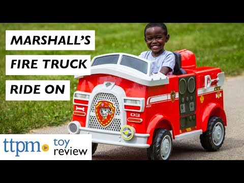 Check Out PAW Patrol Marshall's Fire Truck Powered Riding Toy From KidTrax