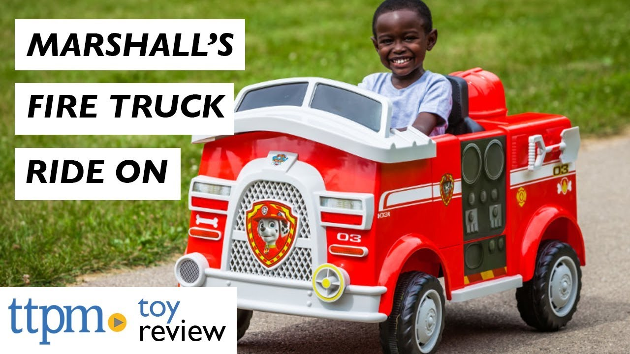 Paw Patrol Fire Truck 6 Volt powered Ride On Toy by Kid Trax Marshall rescue