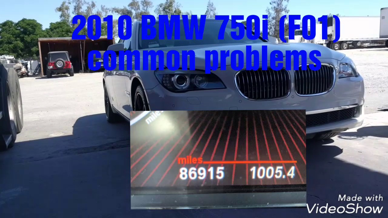 2009 2012 bmw 750i 750li bmw f01 f02 common problems. Black Bedroom Furniture Sets. Home Design Ideas