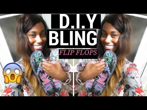 DIY Bling Flip Flops