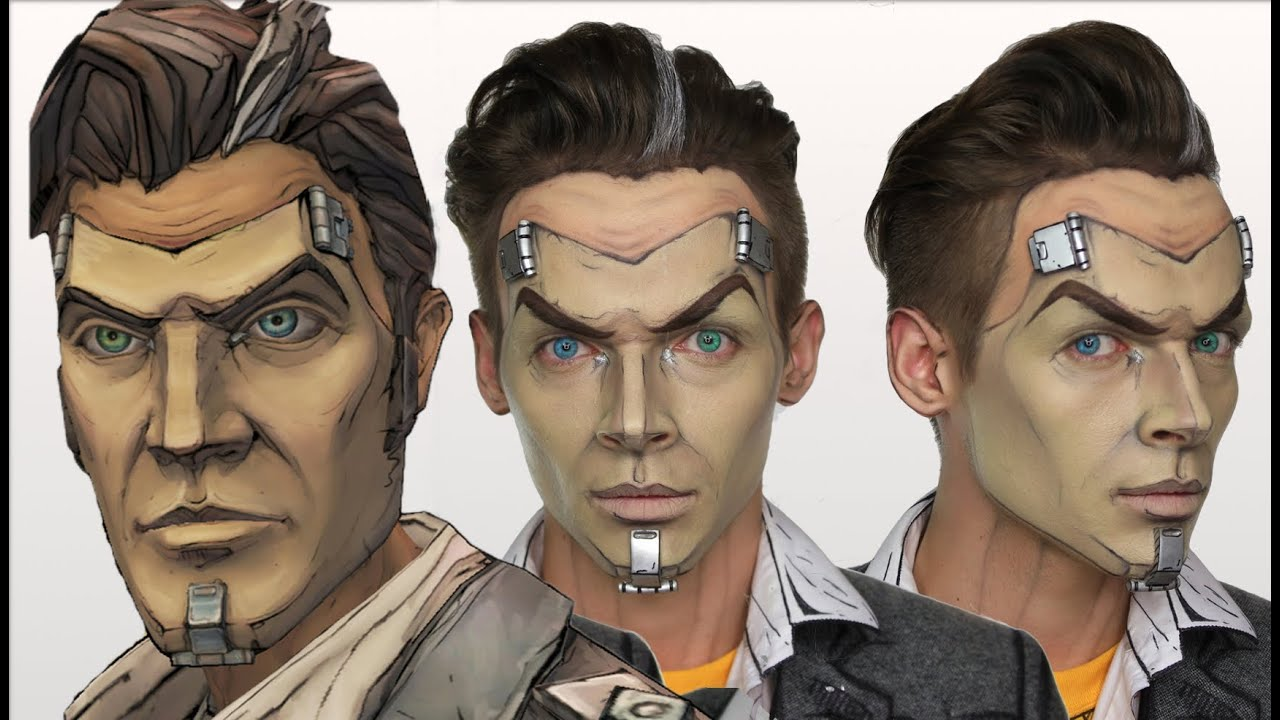 Handsome Jack Borderlands Halloween Makeup Tutorial Cosplay Shonagh Scott