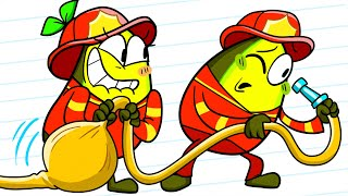 My Boyfriend Wants to Be a FIREFIGHTER || Funny Rescue Team Story by Avocado Couple