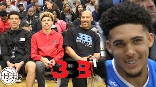 Lavar Ball, Lamelo Ball and Lonzo Ball SPOTTED Watching LiAngelo Ball at BILAAG! Full Highlights