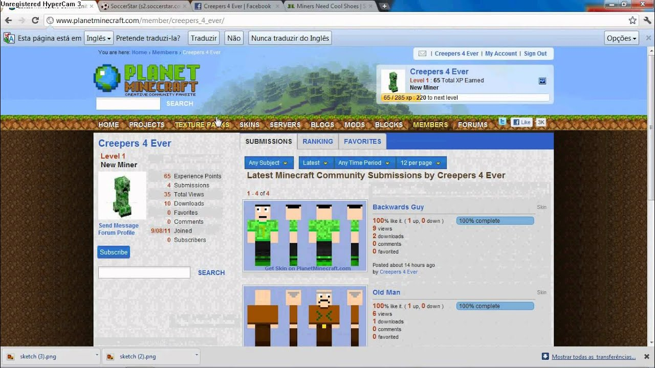 how to create and update a minecraft skin planet minecraft youtube