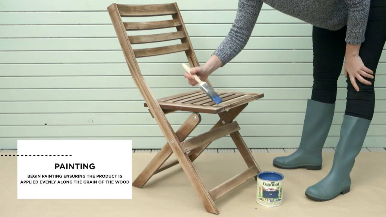 How to paint garden furniture  Cuprinol  YouTube