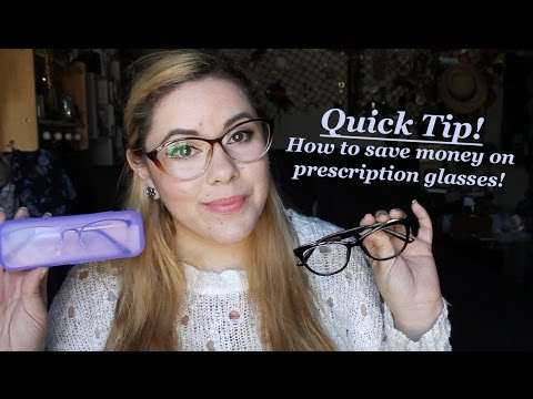 cc7ad8e315 Quick Tip! How to save money on prescription glasses!!! - YouTube