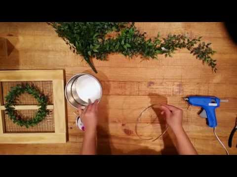 DIY: Fall Greenery Wreath