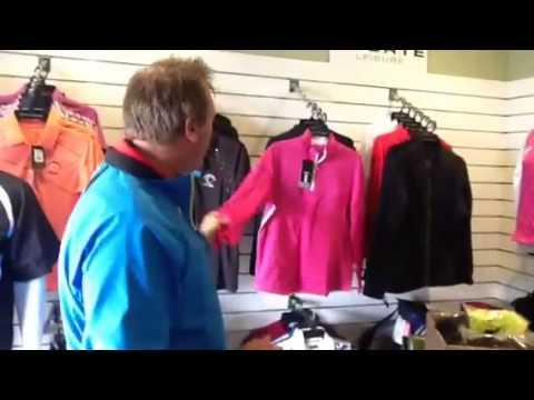 Matt Milne talking winter apparel