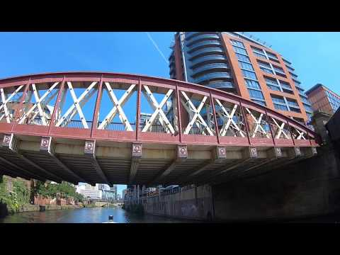 Boat Ride from Manchester to Salford Quays, Greater Manchest