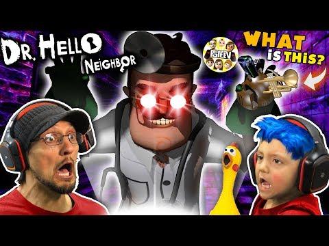 DR. HELLO NEIGHBOR Turns SHAWN BLUE HAIR CHICKEN! (FGTEEV Mod Mini-Game)