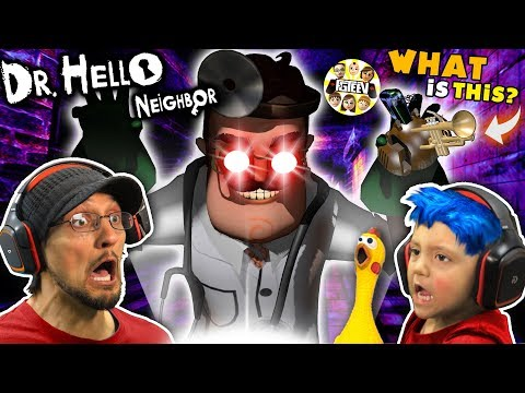 DR. HELLO NEIGHBOR Turns SHAWN BLUE HAIR CHICKEN! (FGTEEV Mod Mini-Game)