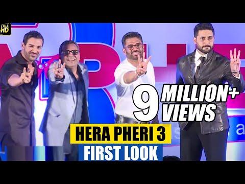Hera Pheri 3 First Look Launch | Paresh Rawal, Suneil Shetty, John Abraham