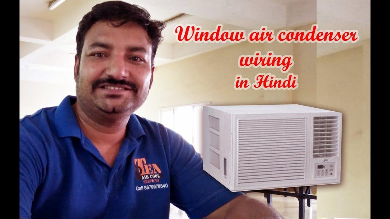 Window Ac Wiring In Hindi Diagram Air Condenser Part 1 Youtube Coleman