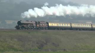 6201 princess elizabeth `The Double Lickey Banker IZ64` @ Newton st Loe on 24th march 2012