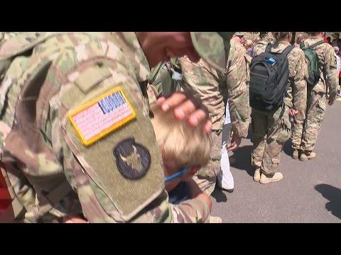 National Guard Soldiers Make Emotional Return In Bloomington