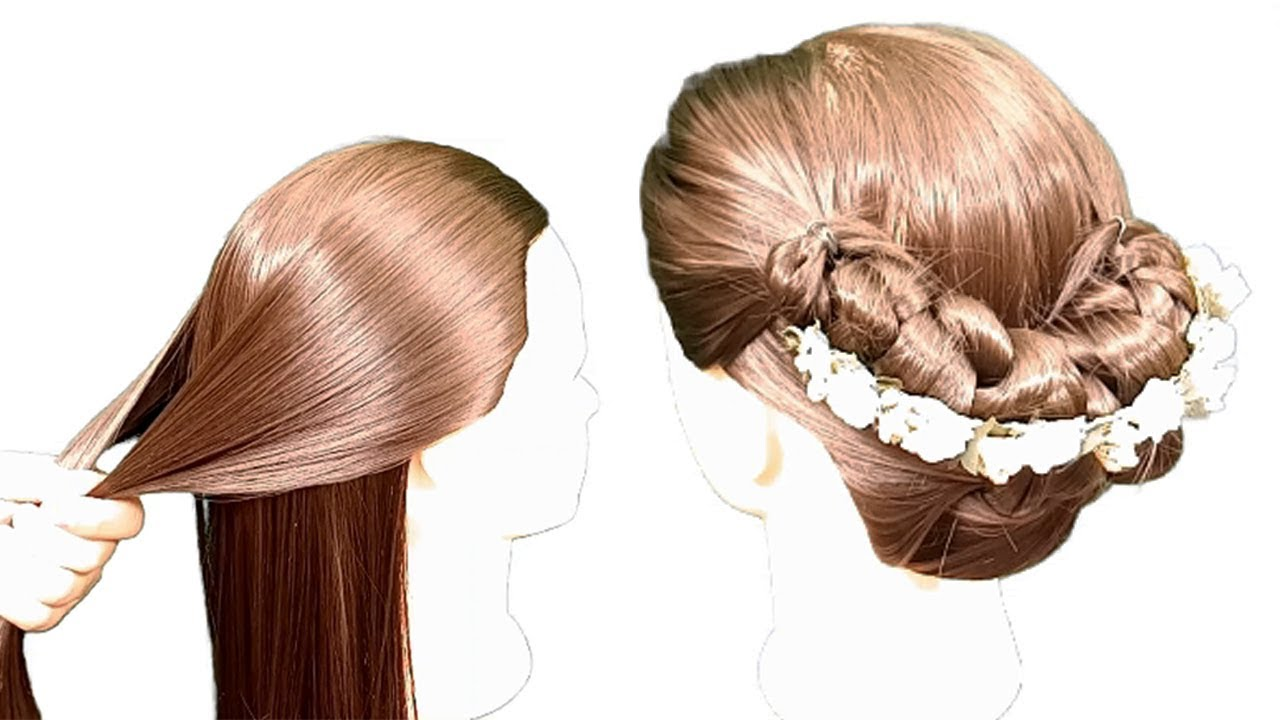juda hairstyle for wedding party || easy hairstyles for medium hair || party hairstyles 2020 ...